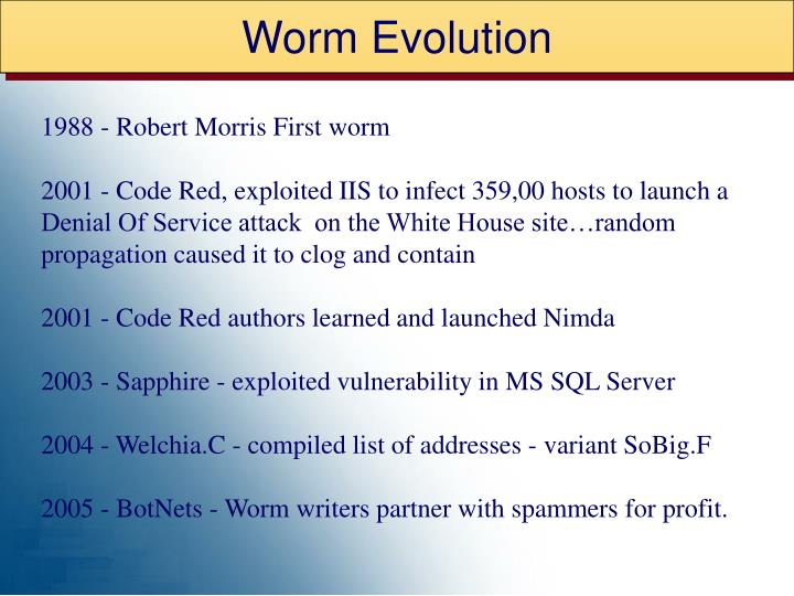 Worm Evolution