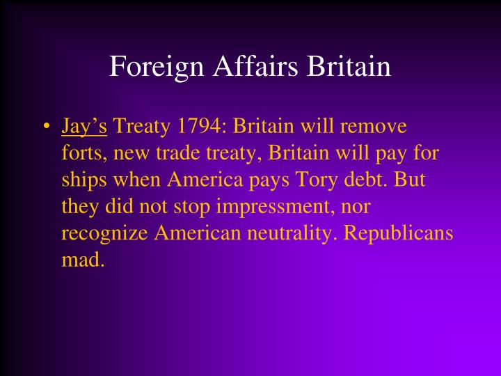 Foreign Affairs Britain
