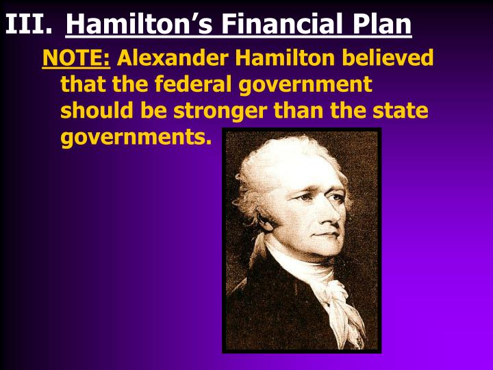 Hamilton's Financial Plan