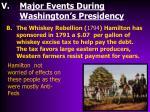 major events during washington s presidency1