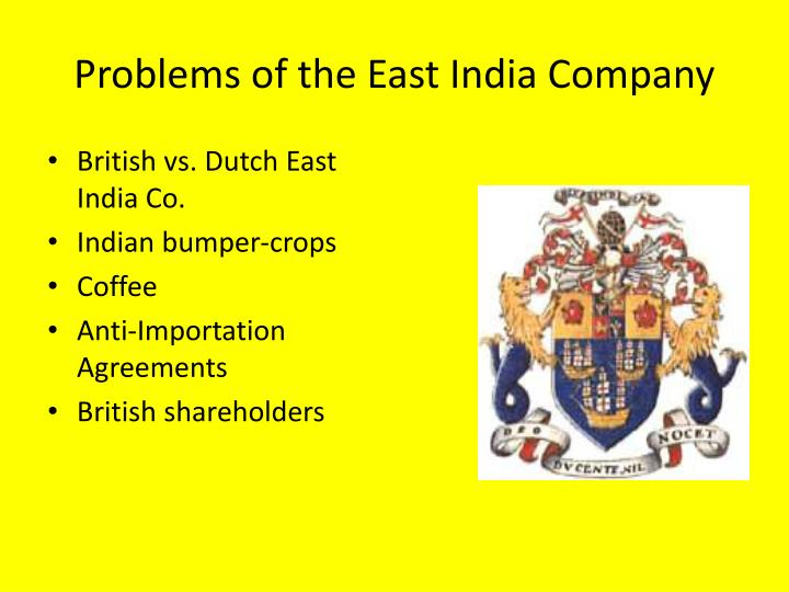 Problems of the East India Company