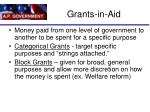 grants in aid