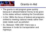 grants in aid1