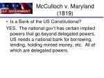 mcculloch v maryland 18191