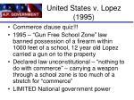 united states v lopez 1995