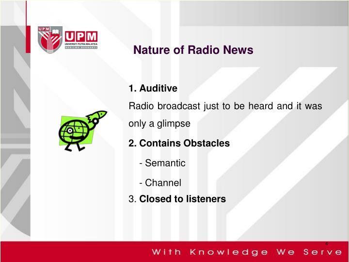 Nature of Radio News