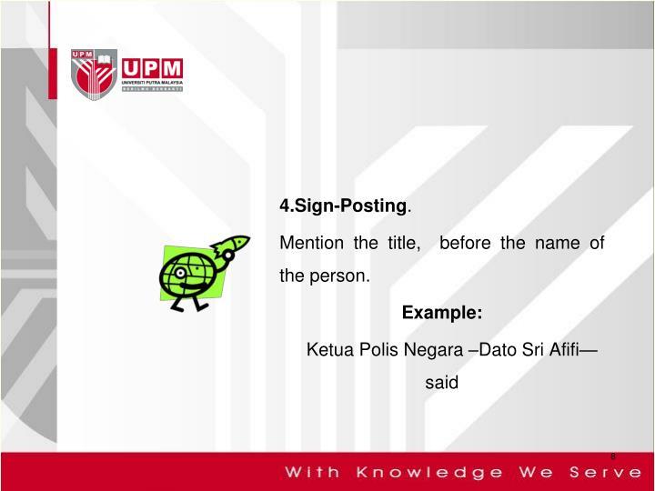 4.Sign-Posting