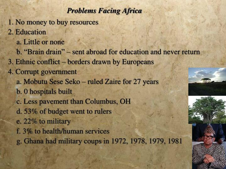 Problems Facing Africa