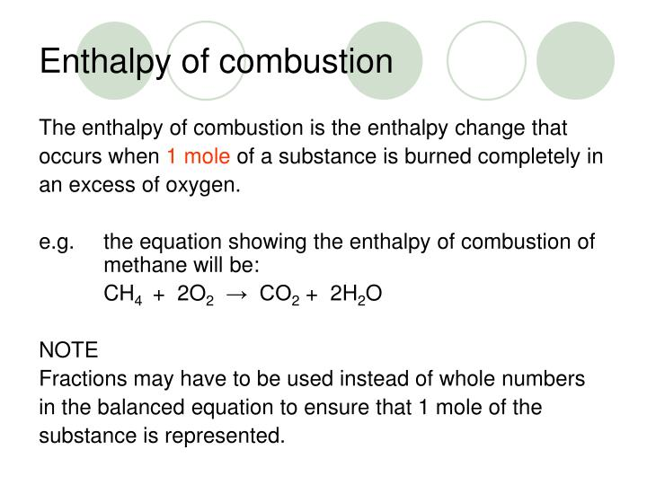 PPT - Higher Chemistry Unit 1(b) Enthalpy of combustion ...