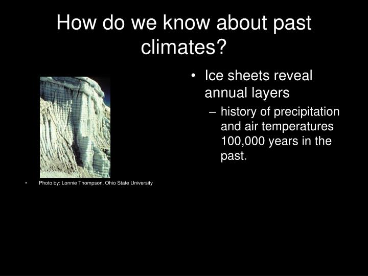 How do we know about past climates?