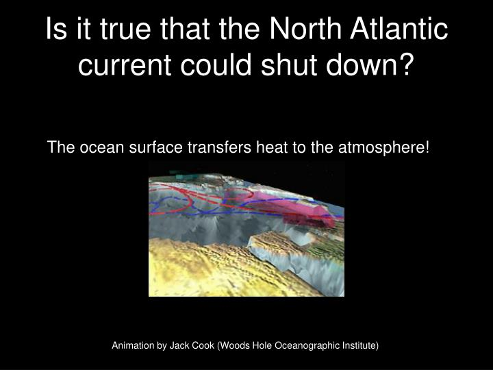 Is it true that the North Atlantic current could shut down?