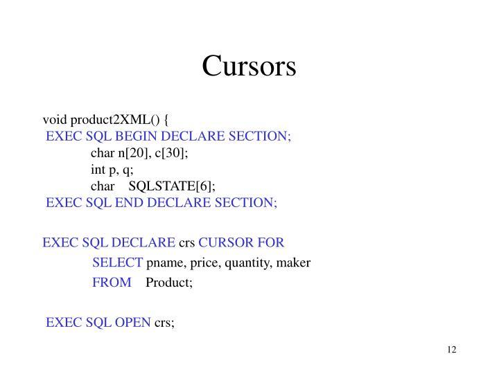 Cursors