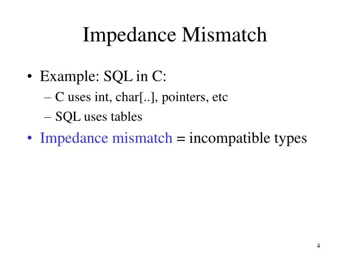 Impedance Mismatch