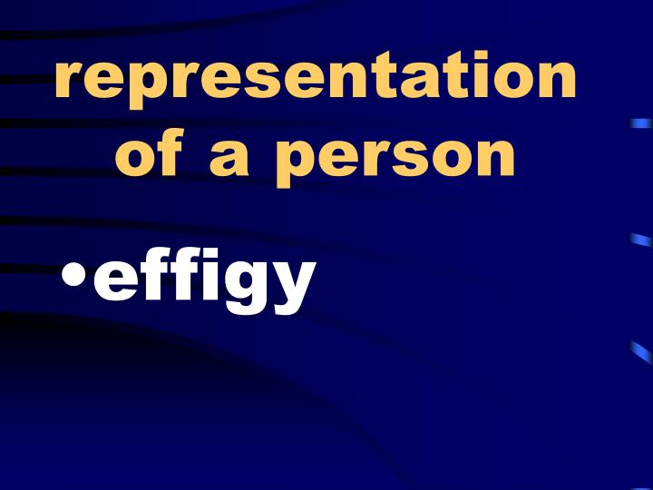 representation of a person