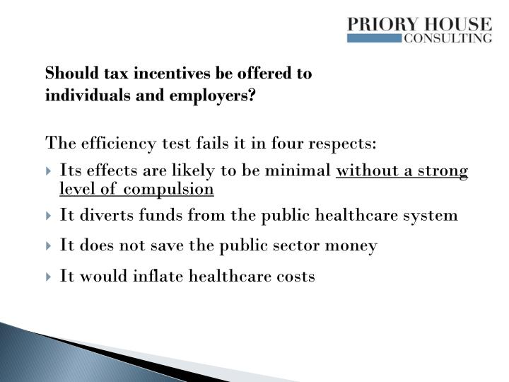 Should tax incentives be offered to