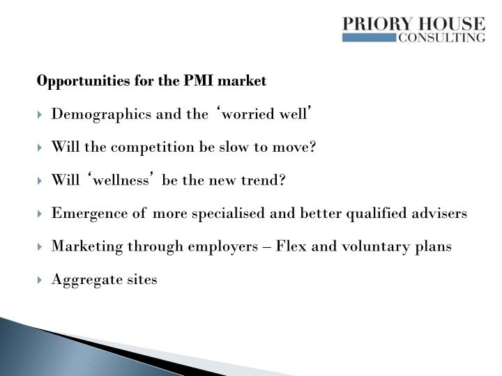 Opportunities for the PMI market