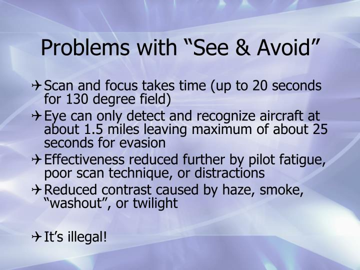 "Problems with ""See & Avoid"""