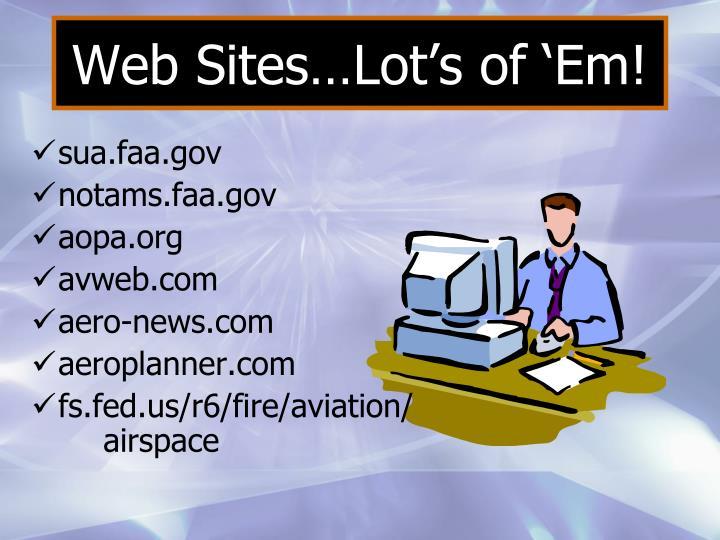 Web Sites…Lot's of 'Em!