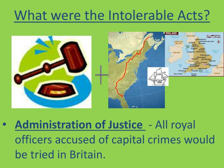What were the Intolerable Acts?