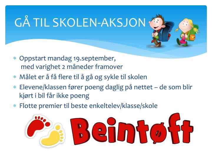 GÅ TIL SKOLEN-AKSJON