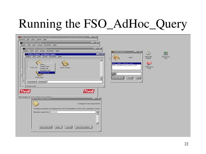 Running the FSO_AdHoc_Query