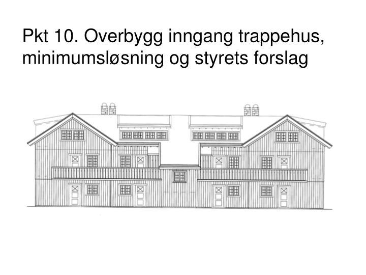Pkt 10. Overbygg inngang trappehus, minimumsløsning og styrets forslag
