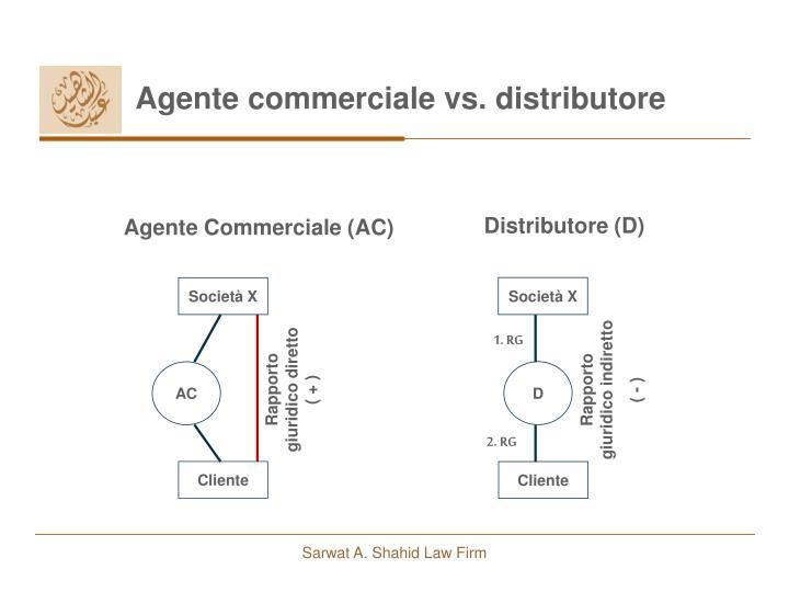 Agente commerciale vs. distributore