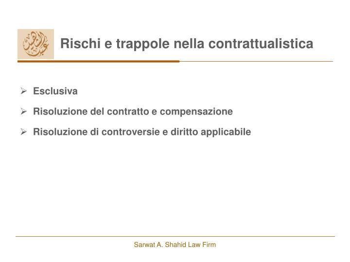 Rischi e trappole nella contrattualistica