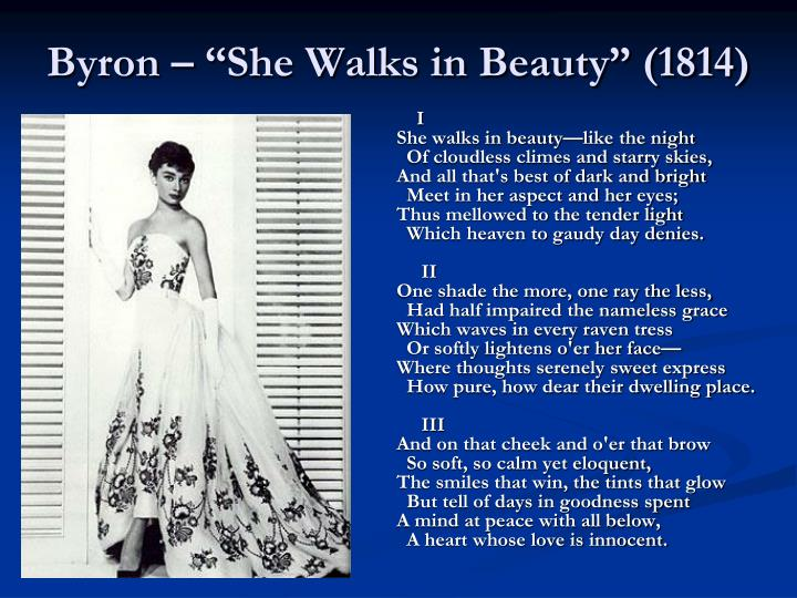 "Byron – ""She Walks in Beauty"" (1814)"