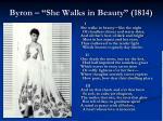 byron she walks in beauty 1814