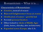 romanticism what it is