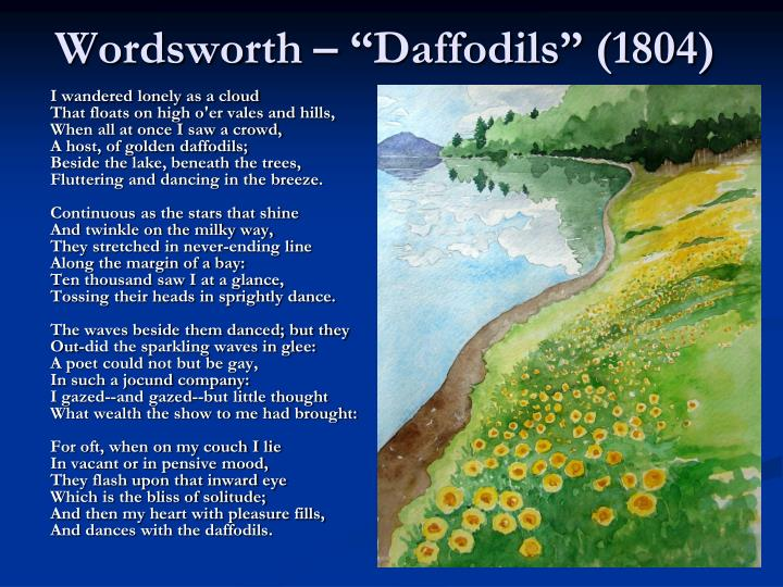 "Wordsworth – ""Daffodils"" (1804)"