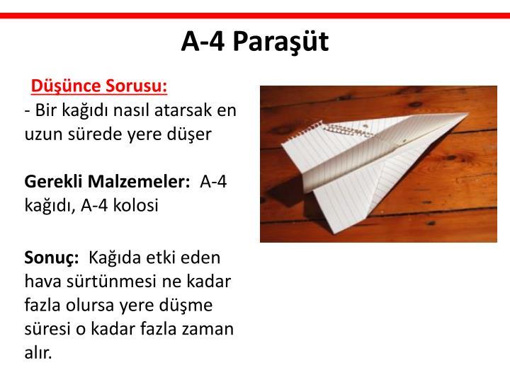 A-4 Paraşüt