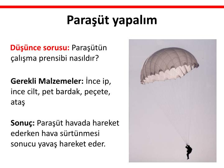 Paraşüt yapalım