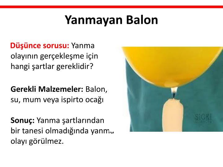 Yanmayan Balon