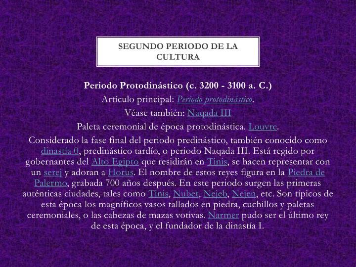 SEGUNDO PERIODO DE LA CULTURA