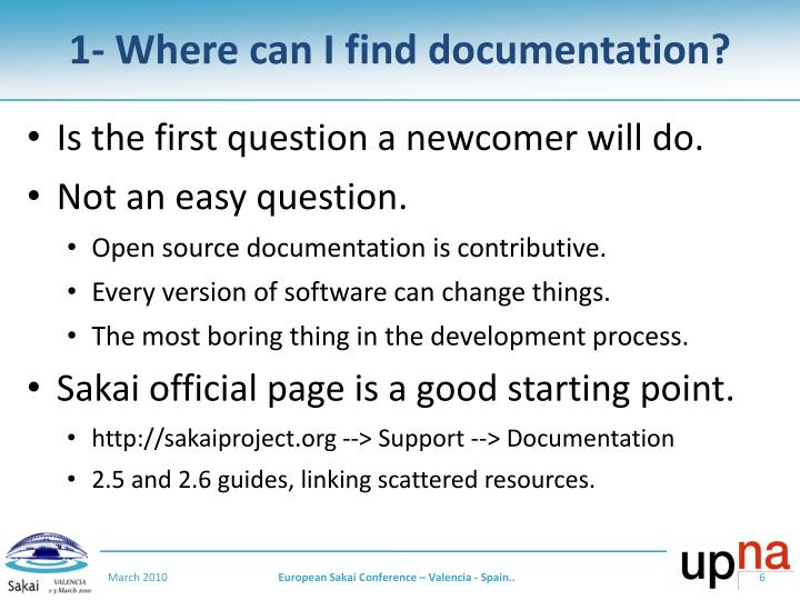 1- Where can I find documentation?