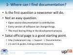 1 where can i find documentation