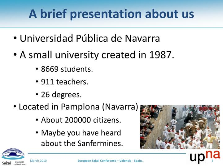 A brief presentation about us1