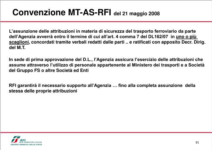 Convenzione MT-AS-RFI