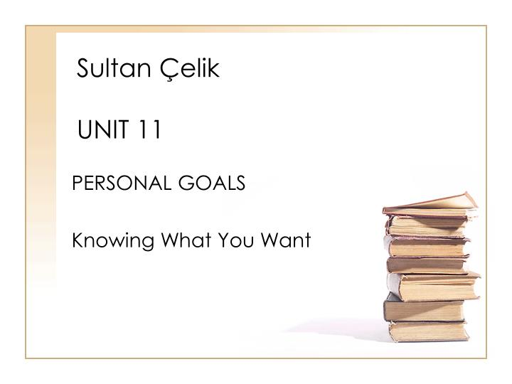 Sultan elik unit 11