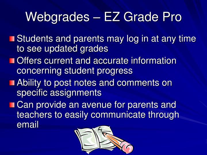 Webgrades – EZ Grade Pro