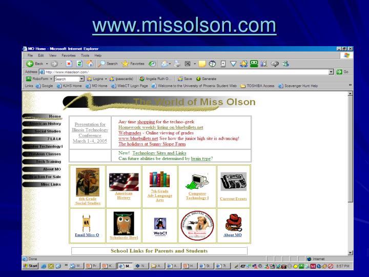 www.missolson.com