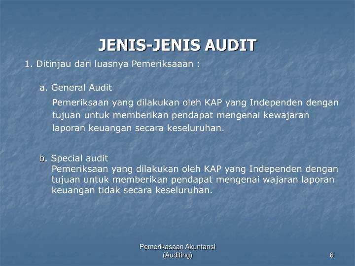 JENIS-JENIS AUDIT