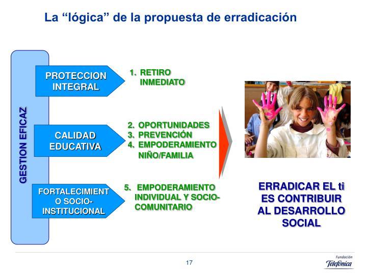 """La """"lógica"""" de la propuesta de erradicación"""