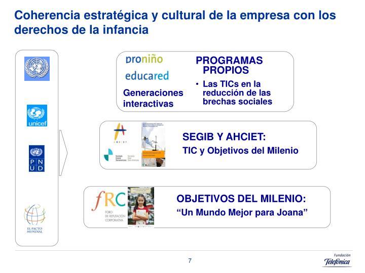 Coherencia estratégica y cultural de la empresa con los derechos de la infancia