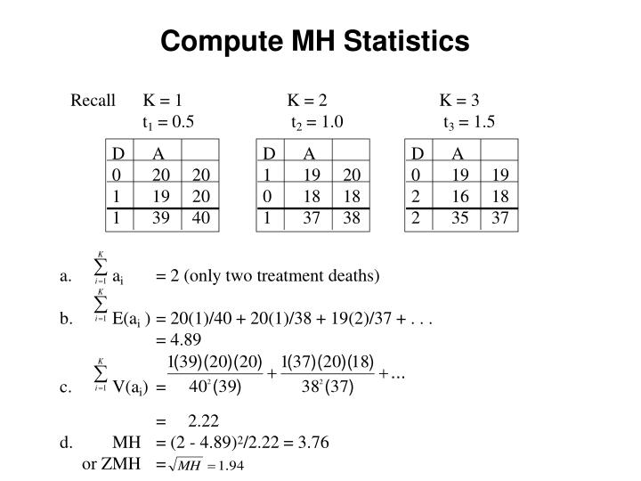 Compute MH Statistics