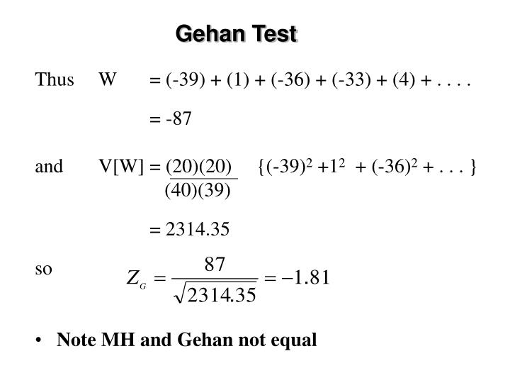 Gehan Test