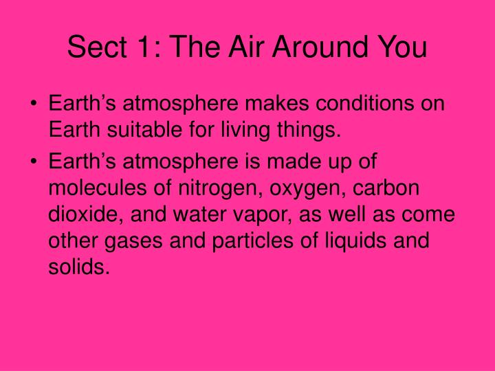 Sect 1: The Air Around You