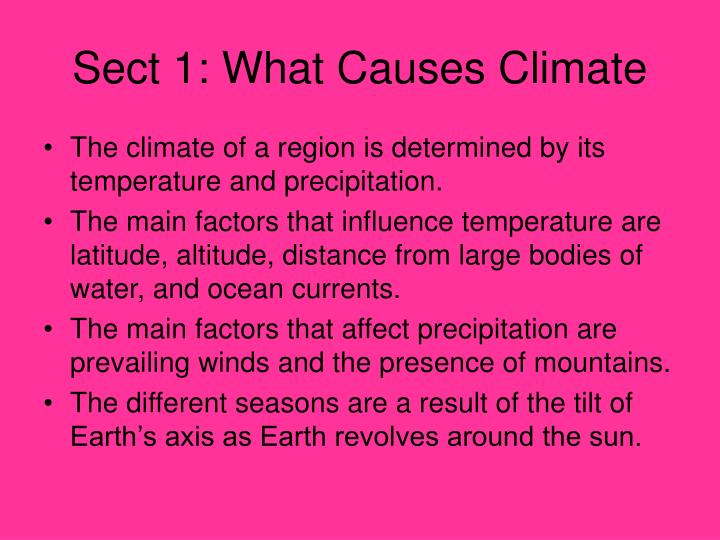 Sect 1: What Causes Climate